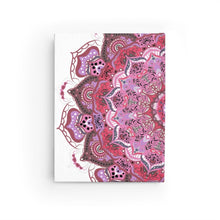 Load image into Gallery viewer, Mandala Number 21 in Ruby Hardcover Journal - with 128 Blank Pages 5x7.25 inch