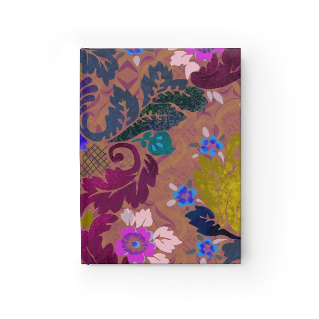 Victorian Boheme in Purple Hardcover Journal 5x7.25 inch - Blank by Leah Quinn Design