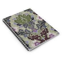 Load image into Gallery viewer, Victorian Boheme in Sage Spiral Notebook - 128 Ruled Lined Pages Journal 6x8 inch by Leah Quinn