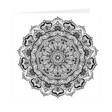 Load image into Gallery viewer, Mandala Number 31 Blank Inside Note Card 5 inch Square