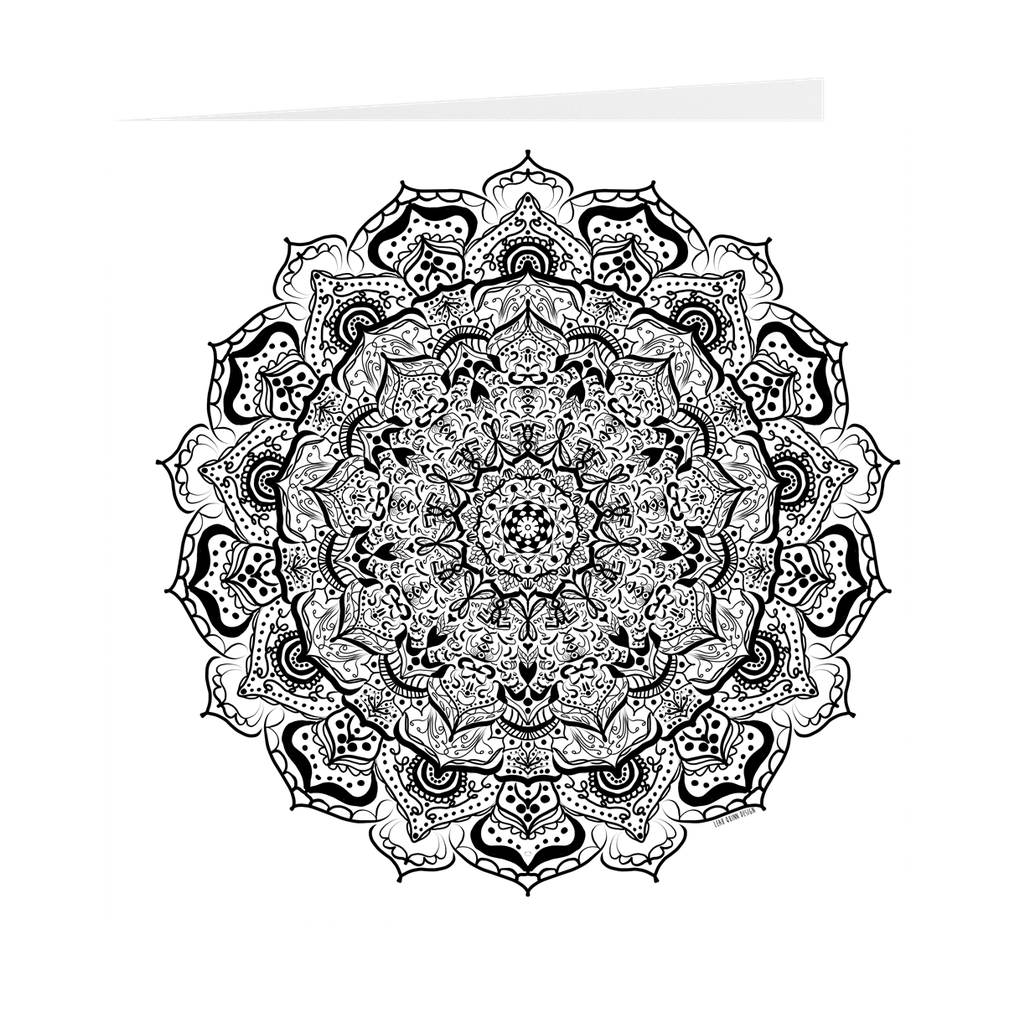 Mandala Number 31 Blank Inside Note Card 5 inch Square
