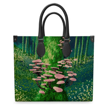 Load image into Gallery viewer, Into the Woods We Forage Leather Tote Bag