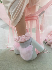 PINK FLUFFY Y.R.U DREAM SHOES