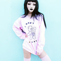 I DON'T CARE BEAR SWEATSHIRT