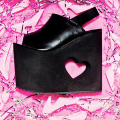 "Y. R. U. ""HEART EYEZ"" PLATFORMS BLACK"