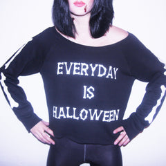 EVERDAY IS HALLOWEEN OFF THE SHOULDER SWEATSHIRT