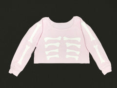 SKELETON ME SWEATER BABY PINK