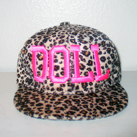 PLUSH LEOPARD DOLLCULT SNAPBACK