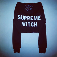 SUPREME WITCH OFF THE SHOULDER SWEATSHIRT