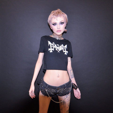 MAYHEM GLITTER CROPTOP
