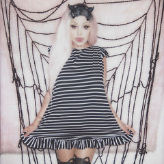 BEETLEJUICE BABYDOLL DRESS