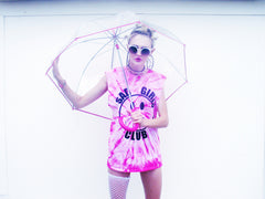 PINK TYE DYE SAD GIRLS CLUB TEE