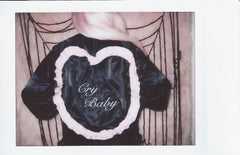 CRY BABY BLACK SATIN JACKET