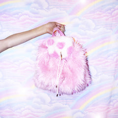 FLUFFY HEART BACKPACK
