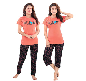 Women's Cotton & Hosiery Night Suit Set