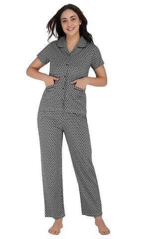 Women's Cotton Classic Pajama Set-Night Suit Set
