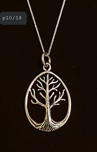 Celtic Sterling Silver Tree of Life Pendant Necklace Charming Spiritual Pagan Silver Jewellery - Arts and Beauty Ltd