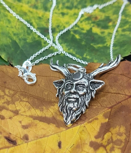 Sterling Silver Pagan God Pan Pendant Including 18
