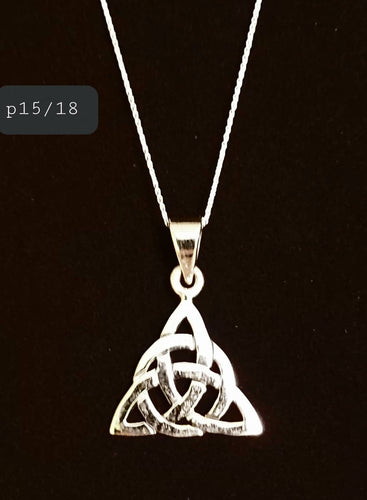 Sterling Silver Celtic Trinity Knot Necklace Spiritual Pagan Silver Jewellery - Arts and Beauty Ltd