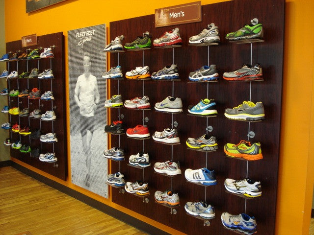 4.) Choose a Shoe Wall for Your Running Store