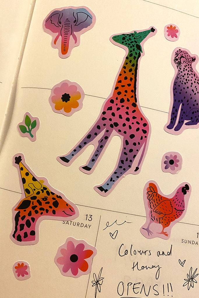 Party Animal Sticker Sheet