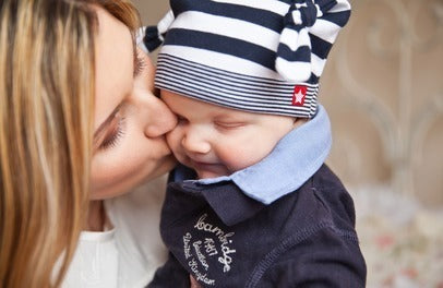Photo of Mom kissing Baby