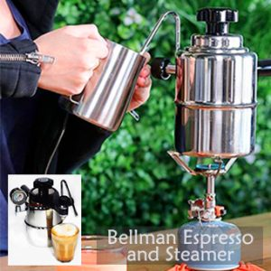 best portable coffee maker, Bellman Espresso and steamer