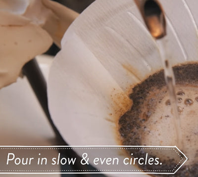 Pouring Slow and Even Coffee Brew
