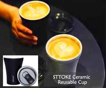 best portable coffee maker, Sttoke reusable cup