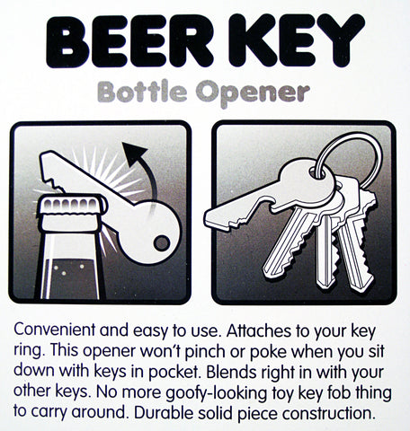 Beer Key Bottle Opener instructions