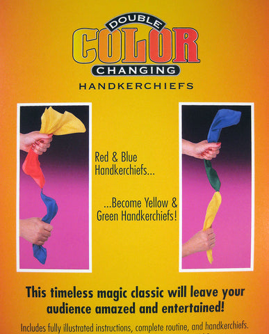 Double Color Changing Handkerchiefs Back