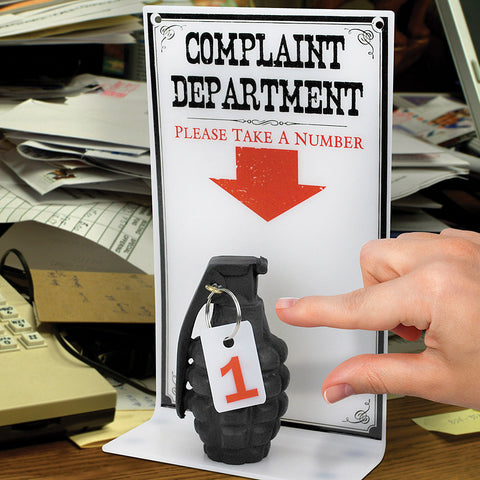 Complaint Dept. Please Take A Number Sign