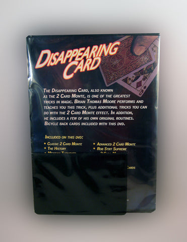 Disappearing Card Instructional DVD Back