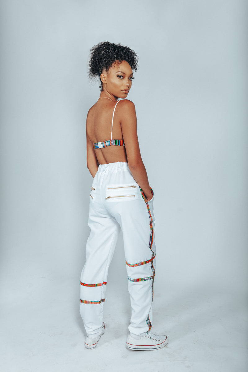 UMPIRE WHITE/ KENTE JOGGER