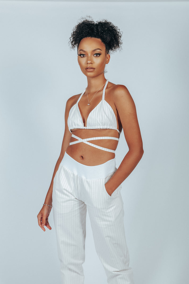 HOME RUN WRAP BRALETTE