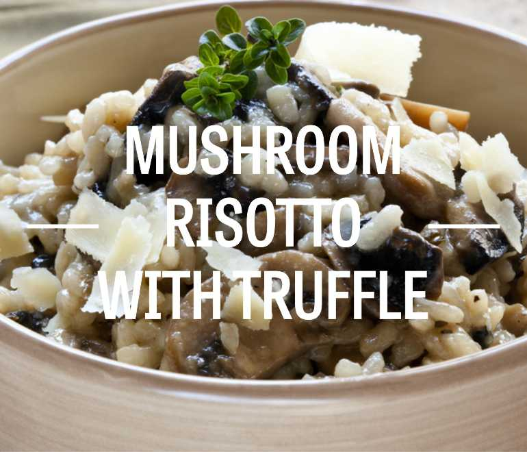 Mushroom Risotto with Truffle Oil and Parmesan