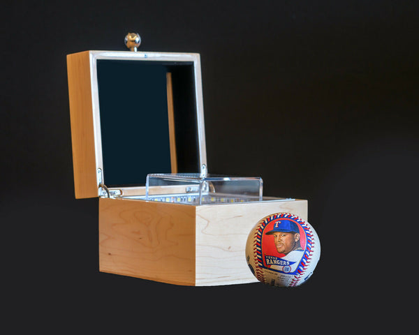 Baseball Display Case and Presentation Box -25 Year UV Protection and LED Lighting