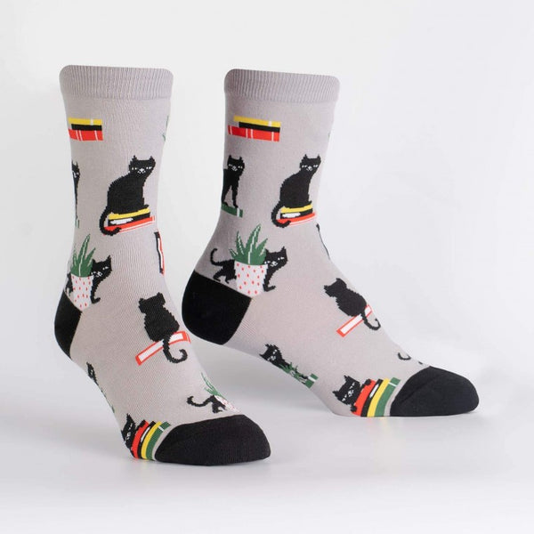 Booked for Meow Crew Sock