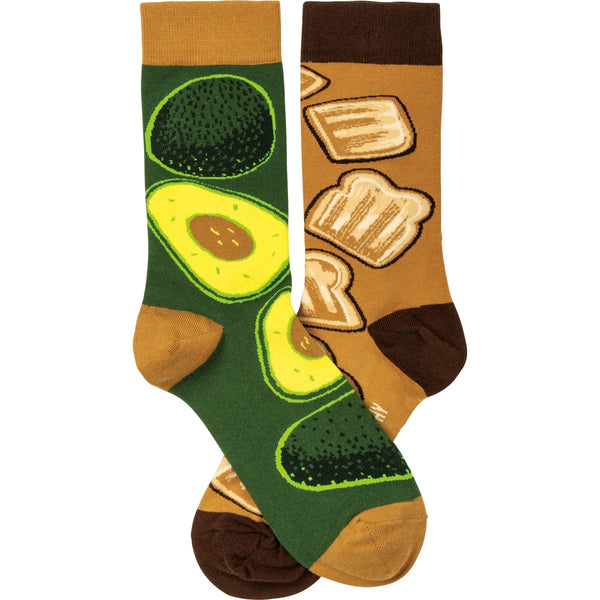 Avocado & Toast Sock