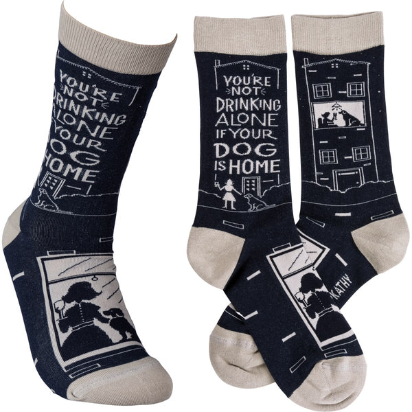 Not Drinking Alone if your Dog is Home Sock