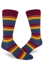 Men's Rainbow Striped Crew