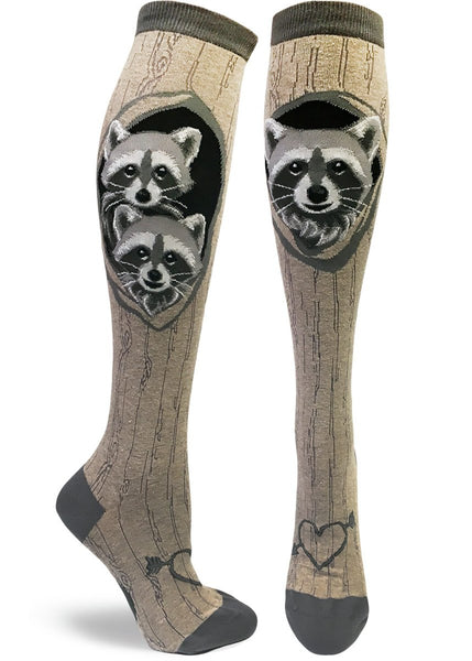 Raccoon's Den Knee High Socks