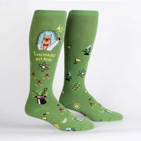 "Trust Me, Llama Scientist ""Stretch It""  Knee High Socks"