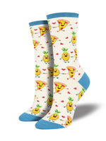 Pizza Loves Pineapple Sock
