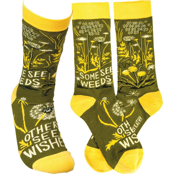 Some See Weeds, Some See Wishes Sock