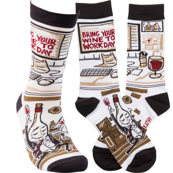 Bring Your Wine To Work Sock