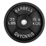Milled Iron Weight Plates Pairs - BARBELL STANDARD