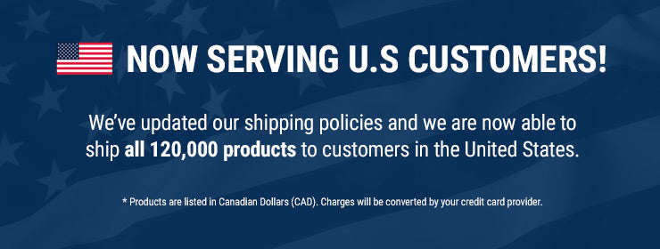 Now Serving US Customers — We've updated our shipping policies and we are now able to ship all 120,000 products to customers in the United States.