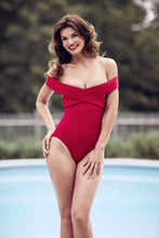 New york red swimsuit suit, one piece