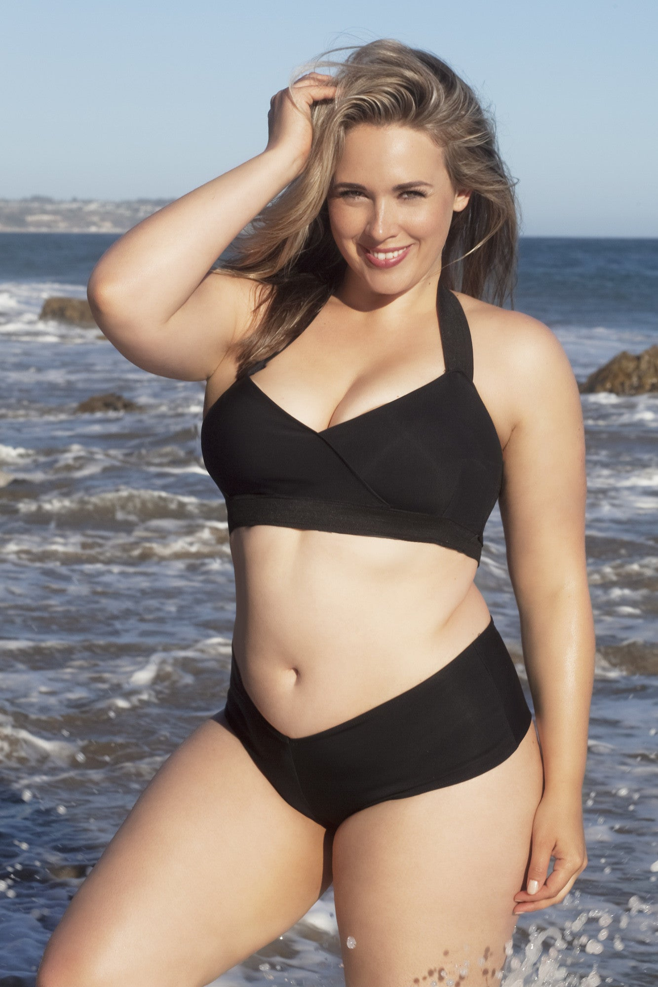 T+ Style. Plus size swimsuit suit, two piece - LILYSH